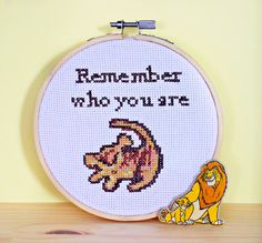 THE LION KING Disney Cross Stitch Embroidery Hoop
