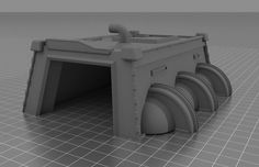 3D terrain file for tabletop wargaming. Available for download through SimplePolytrix's Kickstarter, launching June 21 OR through their website directly after the conclusion.