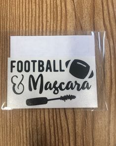 Football and mascara vinyl decal/ sticker, car decal, yeti sticker, laptop sticker, football fan, woman football fan, gift for her, funny by TaylorMadeTreasureUS on Etsy