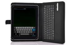Universal protector + del teclado de Bluetooth 3.0 inalámbrico de 9 a 10 pulgadas tabletas como el iPad de Apple, plazo de tabletas grandes de Samsung, y las grandes tabletas de Windows OS.