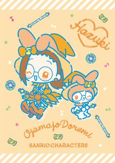 Ojamajo Doremi x My Melody Sanrio Wallpaper, Hello Kitty Wallpaper, Anime Chibi, Manga Anime, Anime Art, Sanrio Danshi, Ojamajo Doremi, My Melody, Kawaii