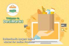 Desimarkt offering an wide range of Indian Groceries in Switzerland at competitive prices. Indian Grocery Store, Online Grocery Store, Order Food, Keep Shopping, Online Marketing, Switzerland, Range, Vegetables, Veggies