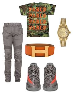 Untitled #108 by losdollas on Polyvore featuring polyvore, Balmain, Rolex, Hermès, men's fashion, menswear and clothing