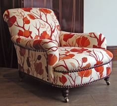 """Turquoise Paisley Accent Chair — Design Roni Young from """"The Most Lovely of paisley accent chair Designs"""" Pictures Living Room Chairs, Comfy Chairs, Chair Style, Furniture, Club Chairs, Accent Chairs, Red Accent Chair, Chair Design, Chair Upholstery"""