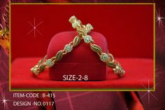 AD jewellery with 1 gram gold polish. Size: 2.4, 2.6 & 2.8  Price : 925/- Free shipping in India.