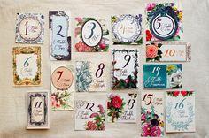 Secret Garden Wedding Table Numbers on Etsy, $8.00
