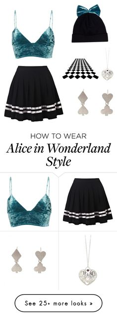 """Velvet Cutie"" by xgiovannagarzax on Polyvore featuring Federica Moretti, Fleur du Mal and Sian Bostwick Jewellery"