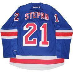 Derek Stepan New York Rangers Blue Premier Jersey (L)