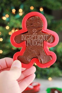 two ingredient fudge. Perfect for christmas and comes together in under 5 minutes!