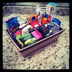 Wedding Restroom Amenity Basket (not to purchase.  just a good resource of items to put in my own basket).
