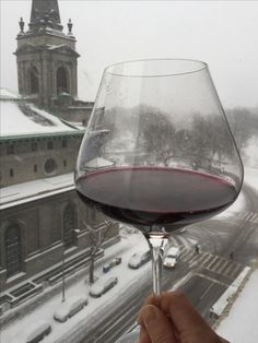 New winter rule: the bigger the snowflakes, the bigger the wine glass.