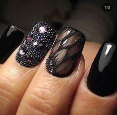 Φωτογραφία mkup&nails uñas negras, diseños de uñas negras e uñas artíst New Nail Designs, Black Nail Designs, Colorful Nail Designs, Cute Nails, Pretty Nails, My Nails, French Nails, Diy Sharpie, Modern Nails