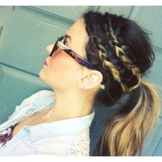 Weekend hairstyle: double braided ponytail