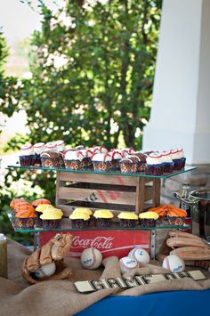 Vintage Sports Theme - old crates and burlap