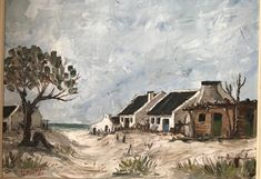 Arniston - Waenhuiskrans 2018 Started painting fishermen houses during this period #PieterCronjeArt