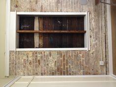 White wash brick Whitewashed Brick, Red Bricks, Front Porches, Basement Ideas, Home Renovation, Cement, Future House, Garage Doors, House Ideas