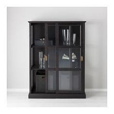 IKEA - MALSJÖ, Vitrineskab, 103x141 cm, , Vitrinelåger. Dine yndlingsting er beskyttet mod støv, men stadigvæk synlige.Opmærksomhed på detaljer gi'r møblet en markant, håndlavet karakter.