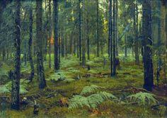 'Forest. Ferns. Sunset.' 1895, Stanislav Yulianovich Zhukovsky