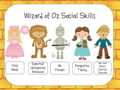 Wizard of Oz Social Skills. What a great idea! Very well toughtout.