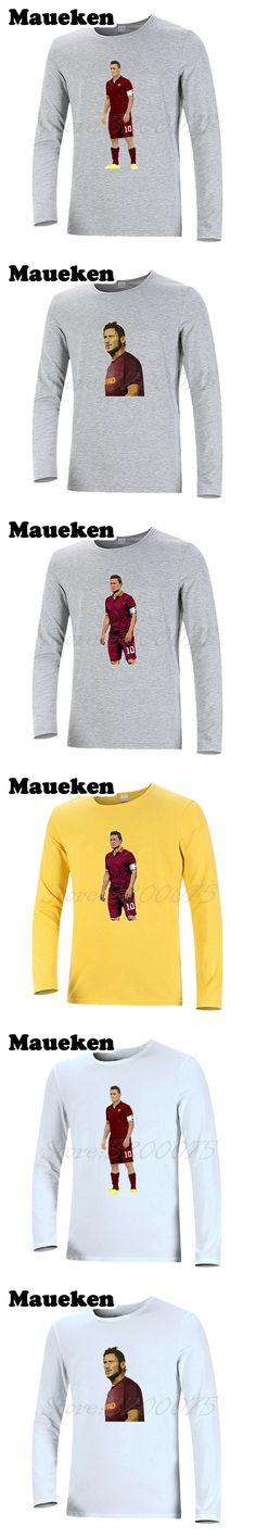 Men T-Shirt Long Sleeve Francesco Totti #10 Legend Captain Clothes as T Shirt Men's roma Autumn Winter W17100707