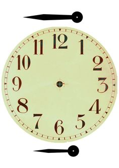 clock face | The file below contains the Victorian Shop artefacts for a home corner ...