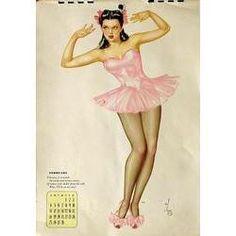 New Pin Up Girl Poster 11x17 Alberto Vargas Calendar March 1944 tiki hula