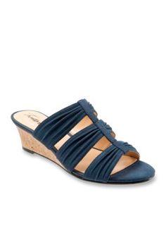 Trotters Blue Mia Wedge Sandal