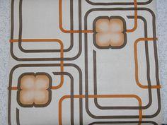 mod geometric...vintage 1970s wallpaper on Etsy, $7.53