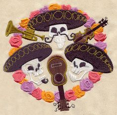 Mariachi Trio | Urban Threads: Unique and Awesome Embroidery Designs ▶