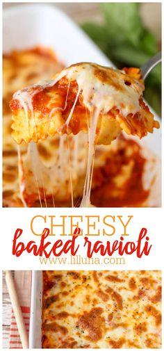 Yummy Pasta Recipes, Entree Recipes, Delicious Dinner Recipes, Grilling Recipes, Beef Recipes, Cooking Recipes, Party Recipes, Baked Ravioli