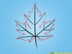 How to Draw a Maple Leaf. The maple leaf is the symbol of Canada and also the fall season. Learn how to draw one with these steps. Draw a triangle with a curved base. Drawing Lessons, Art Lessons, Drawing Ideas, Painted Leaves, Painted Rocks, Leaves Doodle, Draw Leaves, Maple Leaf Drawing, Chalkboard Pictures