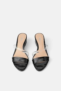 8b65a084f84153 ANIMAL EMBOSSED WEDGES WITH VINYL-DRESS TIME-WOMAN-CORNER SHOPS | ZARA  United