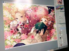 Haruki and Miou color Honeyworks