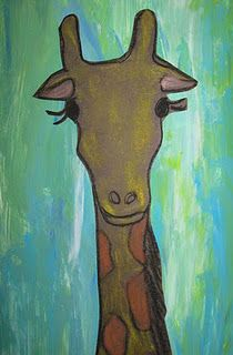 Love this mixed media giraffe