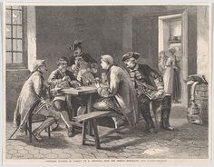 "William Luson Thomas | Soldiers Playing at Cards, from the ""Illustrated London News"" 