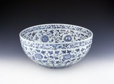 Bowl, China, Ming, v, ca 1400 Porcelain, D. 41.2 cm British Museum, 1975.1028.7