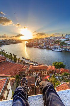 High in Portugal - Sunset in Porto, Portugal
