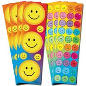 Happy Face Rainbow Stickers