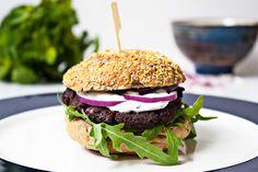 bietenpulp burger= beetroot pulp burger