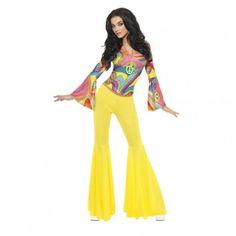 costume disco groove femme #déguisement #disco #groove #femme #sexy #jaune #costume #soiréedisco