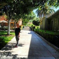 Far side. of Quad. Sidewalk to go to fitness area. by tennis courts & basketball courts ,Woodbury. University , Burbank. Ca.,#eavig. #Occupy Health , Sept. 30, #UCNH Chamber - @mgilstrap19- #webstagram