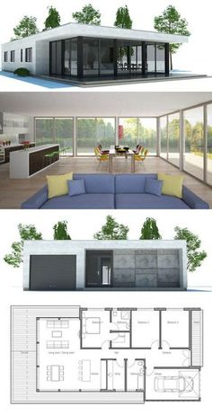 Home Floor Plan; Narrow House