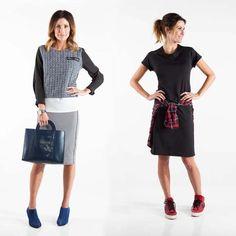 Dress Up or Dress Down. Georgie Wear Uptown Skirt and Downtown Dress