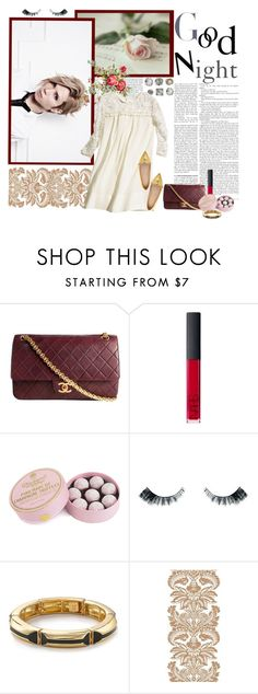 """So...Good Night."" by harushirin ❤ liked on Polyvore featuring Chanel, NARS Cosmetics, Charbonnel et Walker, Bourjois, PATH, Belle Noel by Kim Kardashian, H&M and Kate Spade"