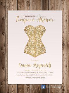 lingerie showerbridal showerlingerie by lunarcardsdesign on Etsy, $13.00