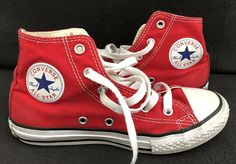 71efad2e2a88e Converse Chuck Taylor All Star High Top Sneakers Youth Size 1 Kids Shoes  Red  fashion