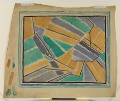 From Designs of the Omega Workshops. The designs were mainly carried our by artists brought together by painter and influential art critic Roger Fry.