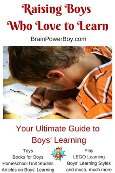 Brain Power Boy is your ultimate guide to boys' learning. We provide resources for raising boys who love to learn. LEGO, books for boys, unit studies & more