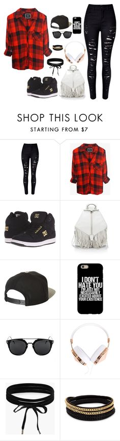 """untitled 5"" by directionerdswiftie13 ❤ liked on Polyvore featuring Rails, DC Shoes, Rebecca Minkoff, Brixton, Frends, Boohoo and Vita Fede"