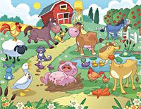 Fun on the farm wall mural from Resene ColorShops.